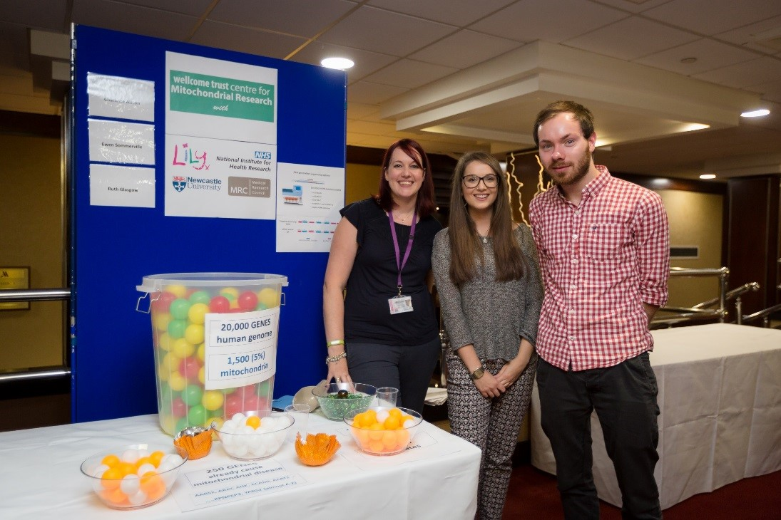 Clinical scientists presenting their research in new ways at the annual mitochondrial patient day (Photos courtesy of Dru Dodds).